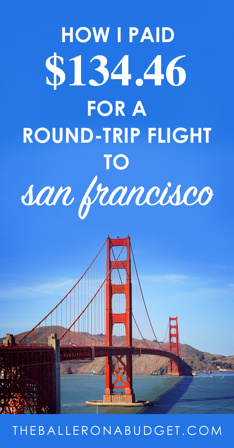 I only paid $134.46 for a round-trip plane ticket and $388.54 for a 2-night stay at a 4-star San Francisco boutique hotel. Here's how. - www.theballeronabudget.com