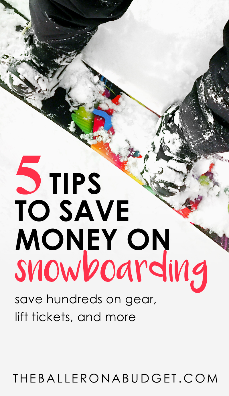 Snowboarding gear can easily become an expensive outdoor sport. However, I was able to save hundreds of dollars on all of my gear as well as my lift passes and much more. Here's how you can snowboard on a budget too. - www.theballeronabudget.com