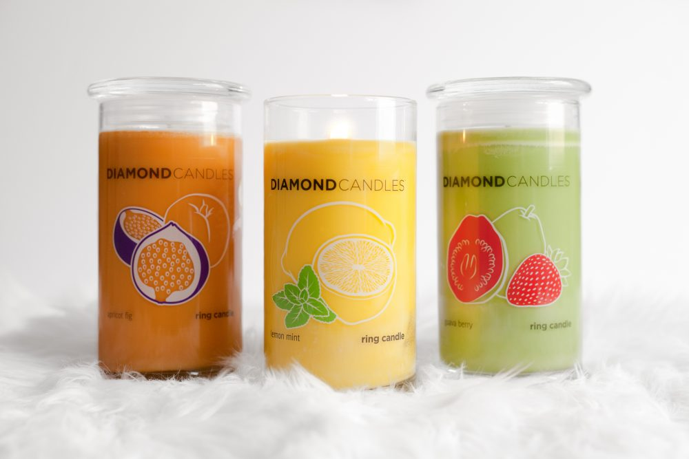 These beautiful $25 soy candles are a whopping 21 ounces and have a special surprise inside - a ring (and the chance to win a ring worth $100, $1,000, or even $5,000!) Click to read my review on the amazing Diamond Candles. - www.theballeronabudget.com