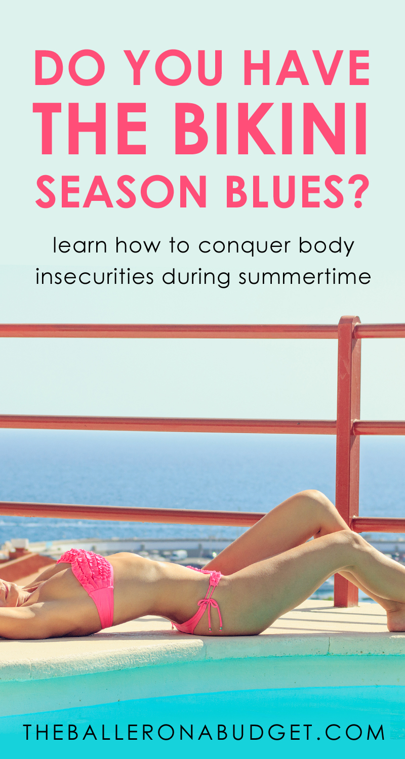 """Anxious to squeeze yourself into that bikini this summer? You might be having the """"bikini season blues."""" Here's how to beat it while beating the heat too. - www.theballeronabudget.com"""