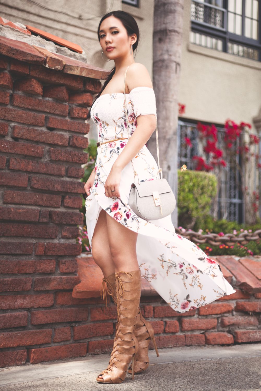 Shop the look - Dress: $19.00, Shoes: $42.95, Leather Handbag: $39.99, Belt: $7.49 - www.theballeronabudget.com