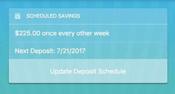 You can adjust your deposit schedule by going into your Profile settings and adjusting the schedule in a few clicks.