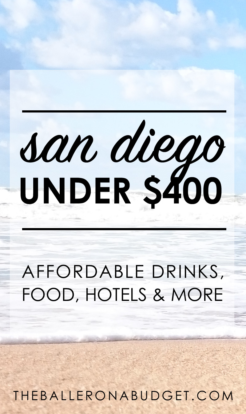 Is it possible to visit San Diego on a budget? I stayed under $400. Here is the ultimate guide to the cheapest hotels, best beaches, cheap food and drinks. - www.theballeronabudget.com