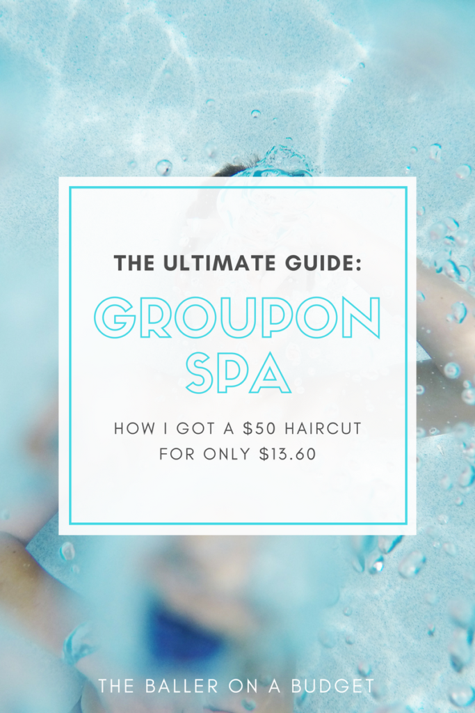Groupon can get you a great deal on spa treatments! See how I got a $50 haircut for only $13.60.