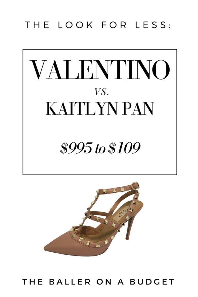 We found an accurate dupe for the $995 Valentino Rockstud! Best part: it's only $109!