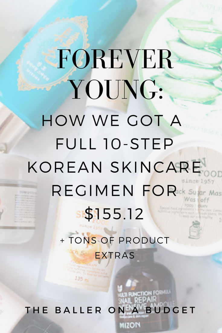 The Korean secret to the fountain of youth? Here's how we got an entire 10-step Korean skincare regimen for only $155.12, with extra products!