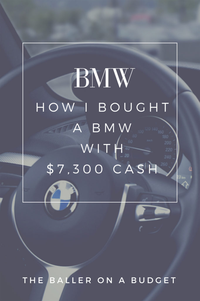 I purchased a BMW 330i for only $7300 cash. How did I do it? You can too!