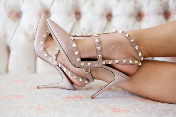 The Look for Less: Kaitlyn Pan Studded Heel ($109) vs. Valentino Rockstud ($995)