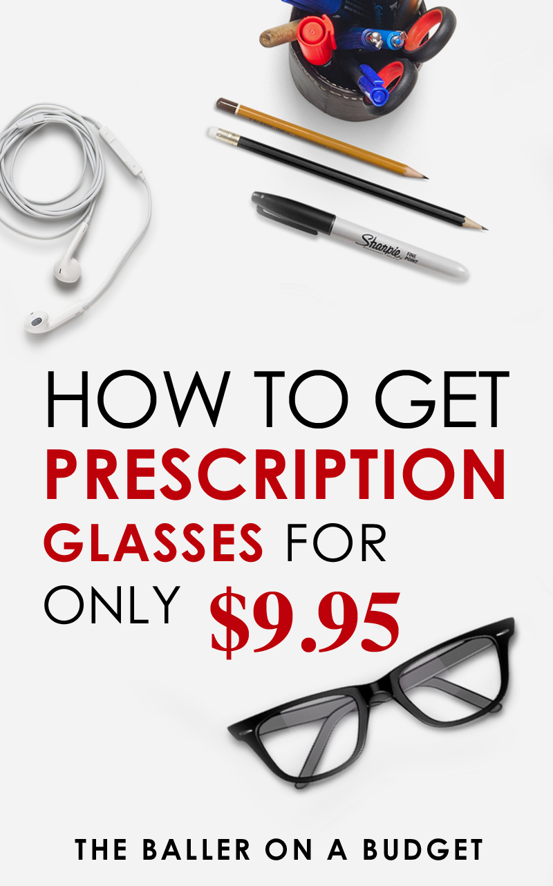 Pinterest graphic for affordable prescription glasses starting at $10