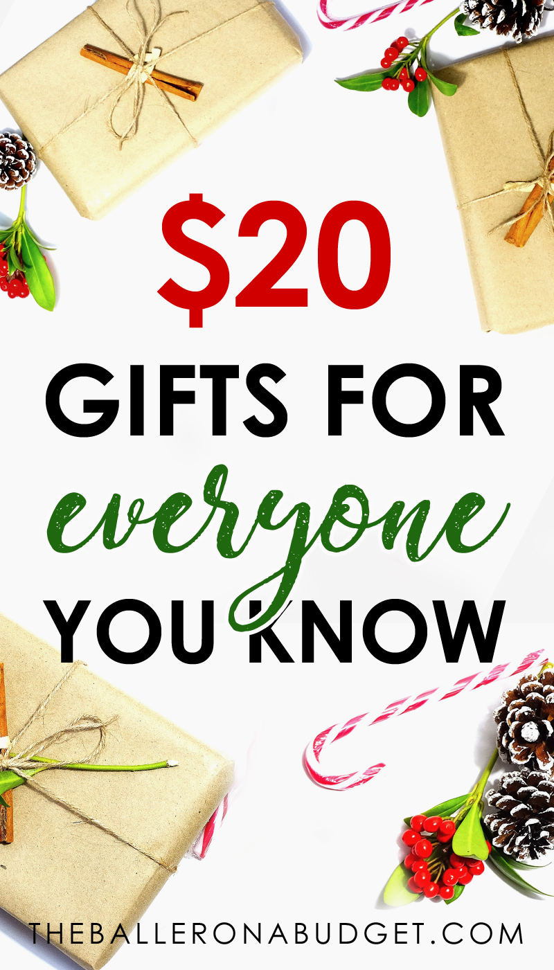 Need some affordable gift ideas that won't break the bank? This gift guide is filled with presents from Amazon for literally every single person you know, all under $20. - www.theballeronabudget.com