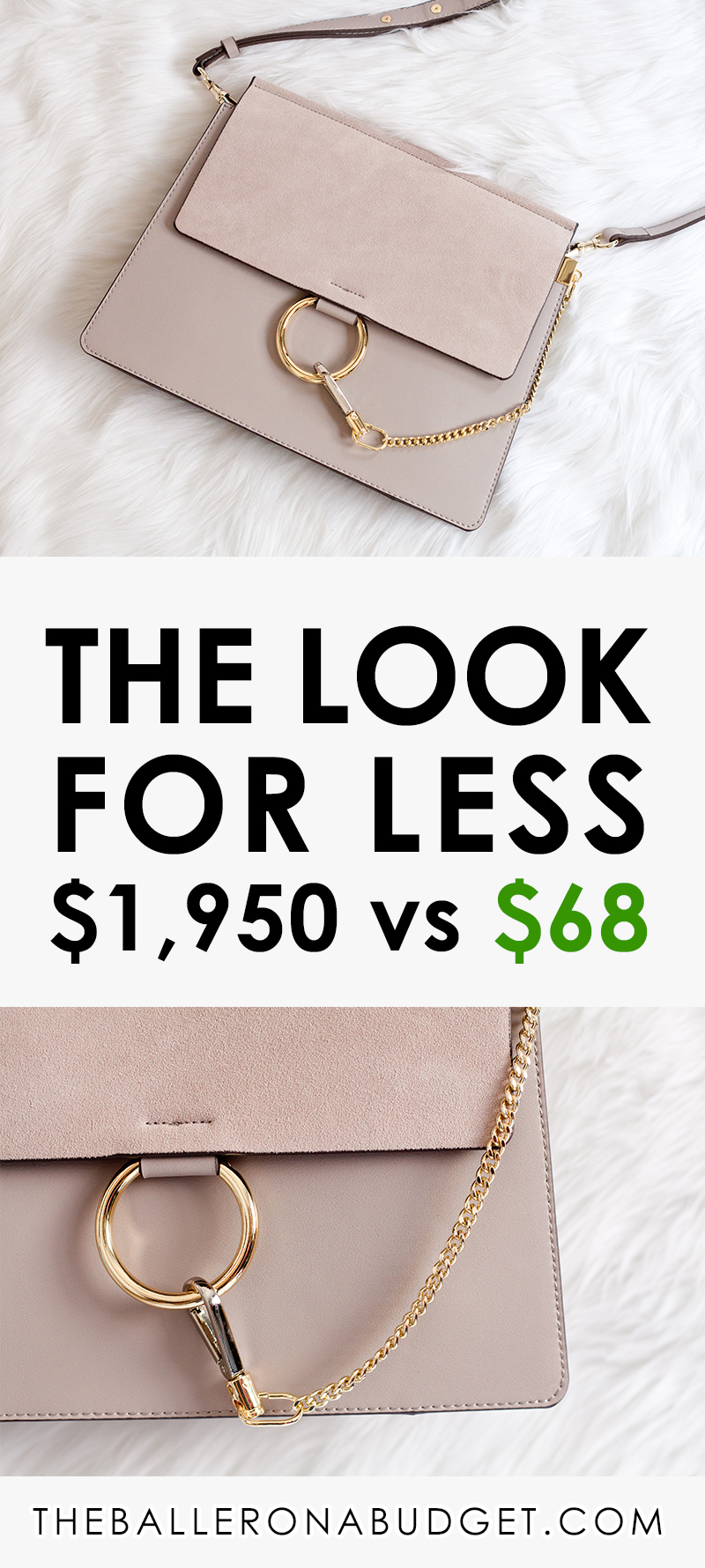 $1,950 Chloé Faye vs. a $68.50 genuine leather bag that's stylistically similar: Read the review and find out where to buy here! - www.theballeronabudget.com
