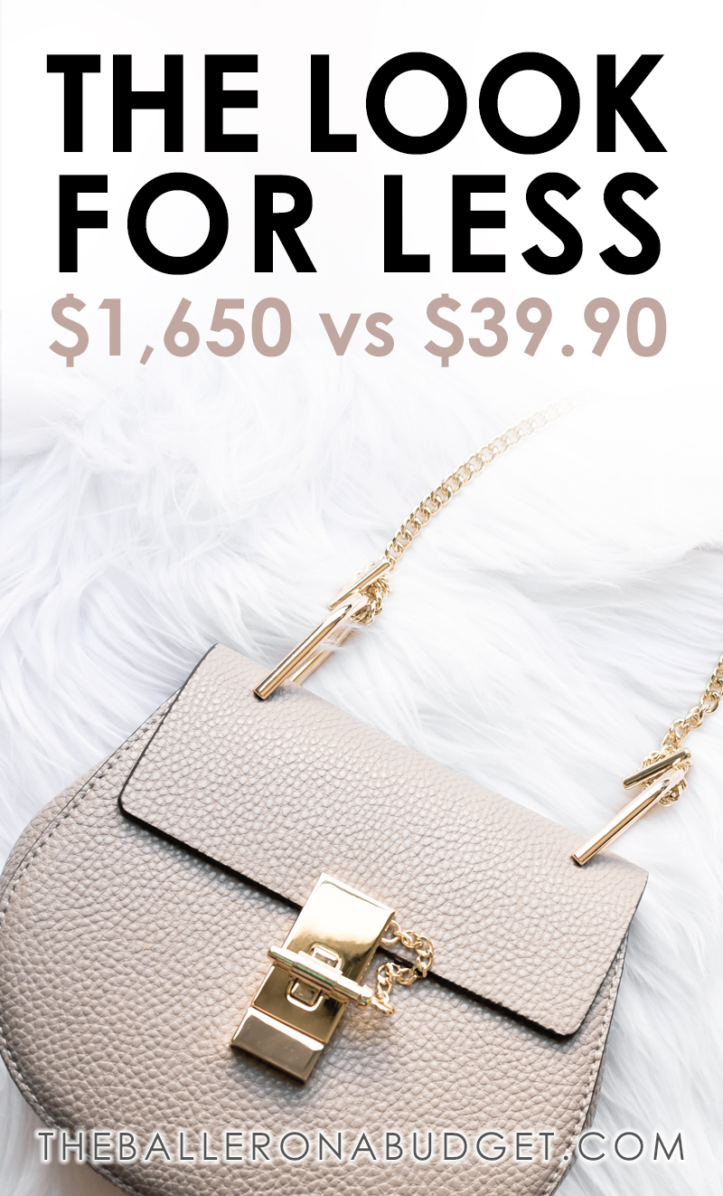 Chloe's $1,650 Drew bag vs. a similar $39.90 genuine leather bag: Read the review and find out where to buy here! - www.theballeronabudget.com