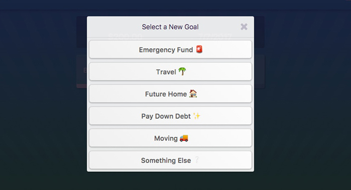 With Rize, you can set several savings goals for different things. Do you want to go on a vacation? How about building your emergency fund? You can also create custom savings goals.