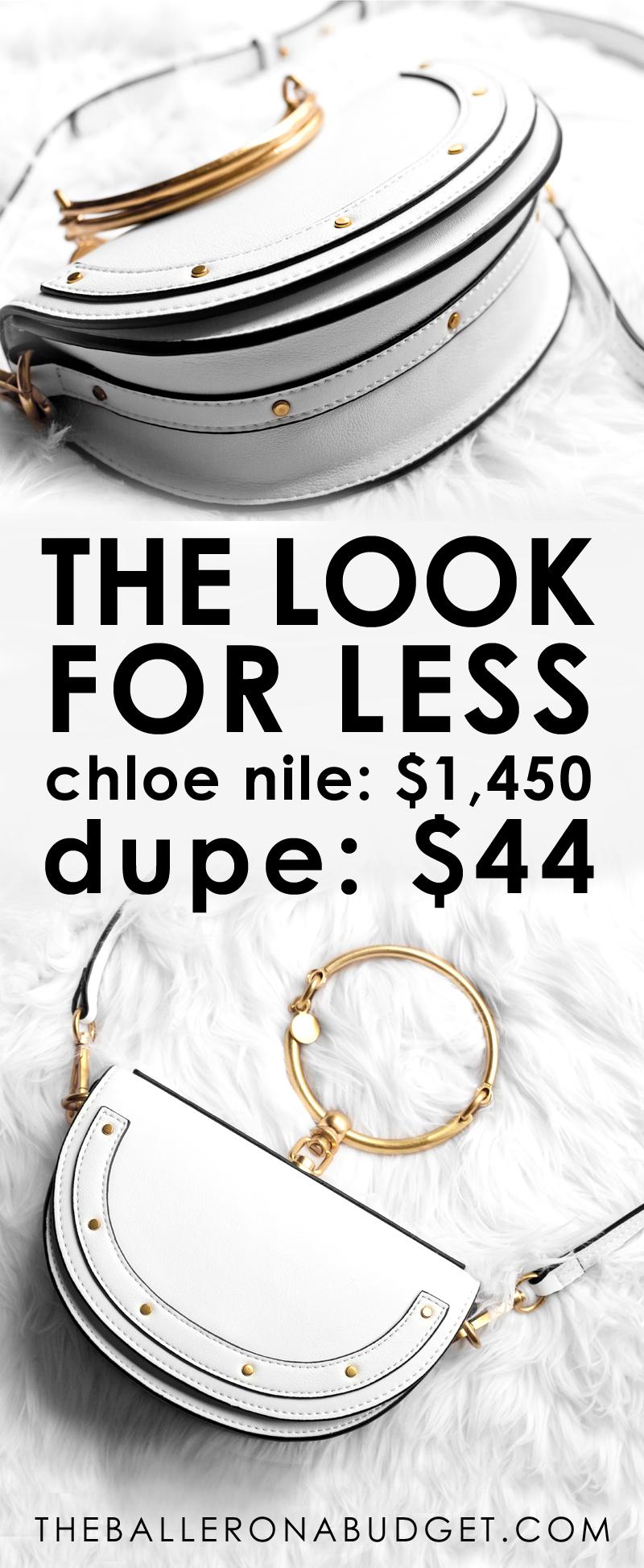 2f890261d4 Designer Dupe: Chloe Small Nile Bracelet Bag – $1,550 vs. $40.43 ...