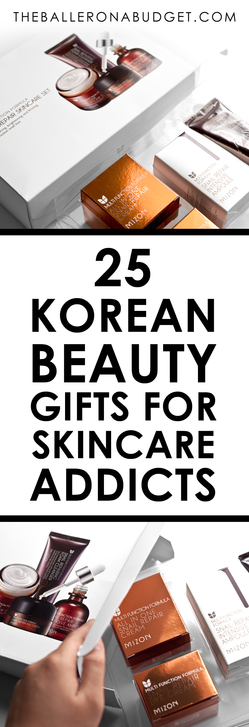 Looking for a Korean skincare gift for the Korean beauty addict you know? Here are over 25 gift sets from travel-sized to full-sized that fit every budget. - www.theballeronabudget.com
