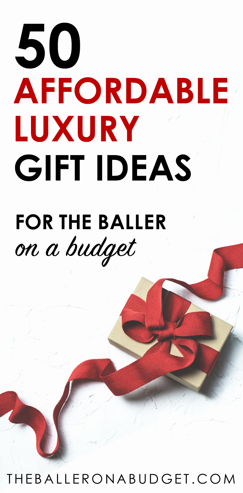 Looking for the perfect budget-friendly luxury gift? These 50 affordable luxury gift ideas that are sure to please. From Calvin Klein to Diesel and dupes of expensive brands like Rolex, Celine, Hermes and more, this is the ultimate affordable luxury gift guide for the baller on a budget! - www.theballeronabudget.com