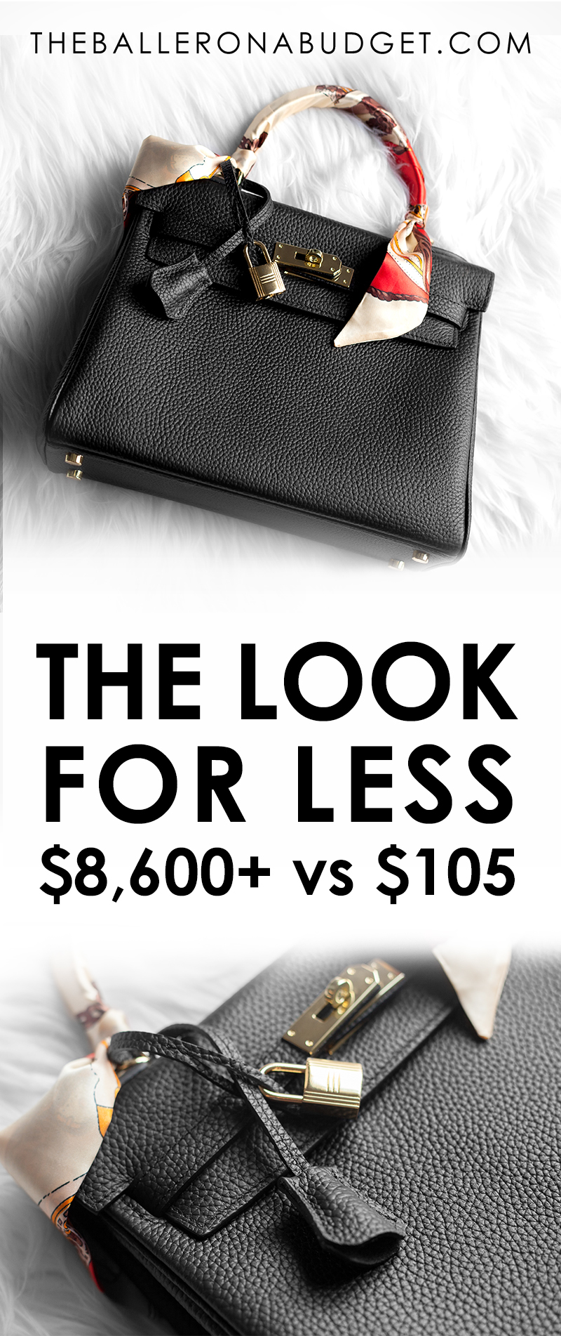 Looking for a bag that's similar to the $8,600+ Hermes Kelly Bag without the expensive price tag? This bag is made from genuine leather and is only $105! Check out the review with lots of detailed photos. - www.theballeronabudget
