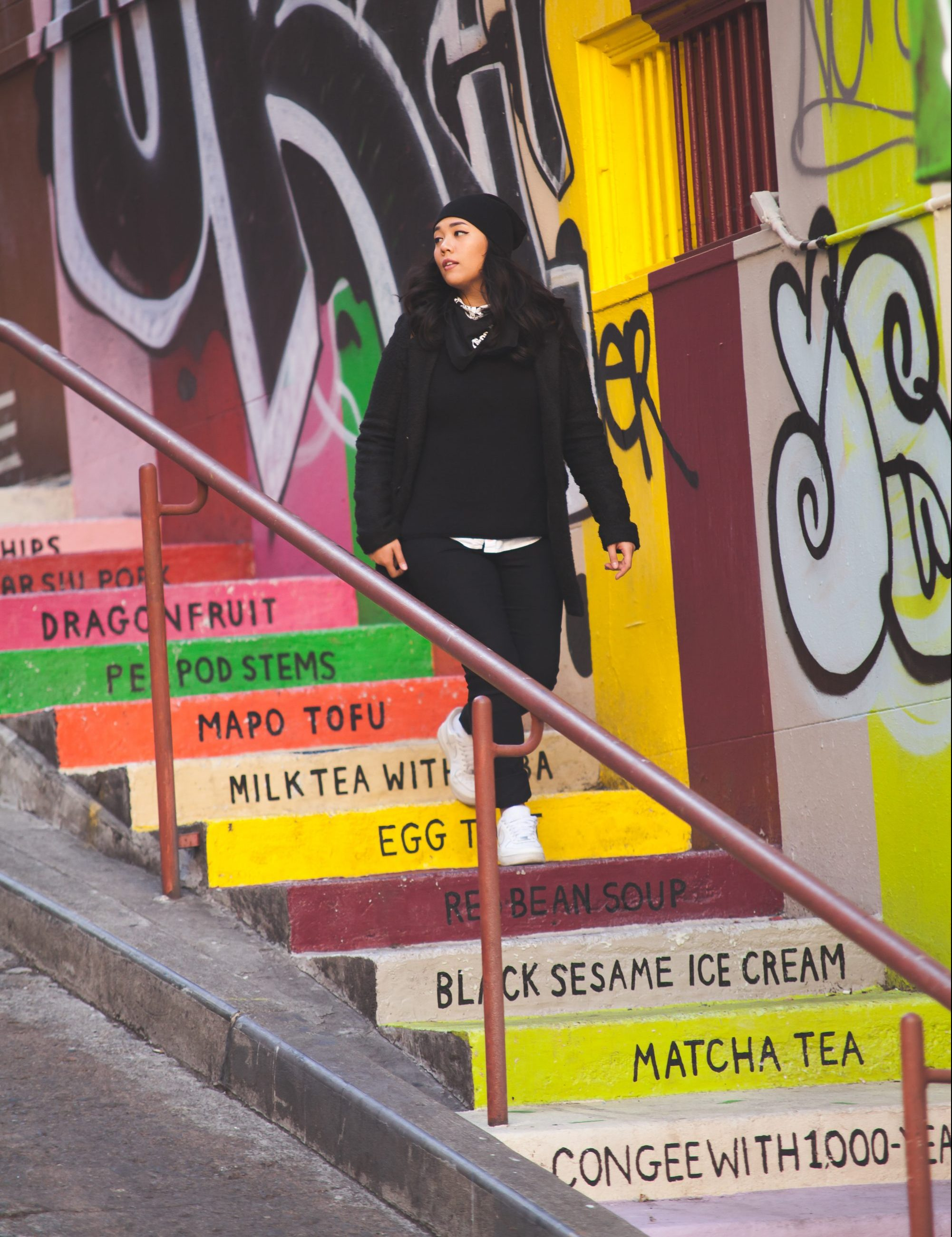 Don't forget to snap a photo at the famous Vinton Court Steps in Chinatown! They are located at Pine and Grant. St in Chinatown, San Francisco. - www.theballeronabudget.com
