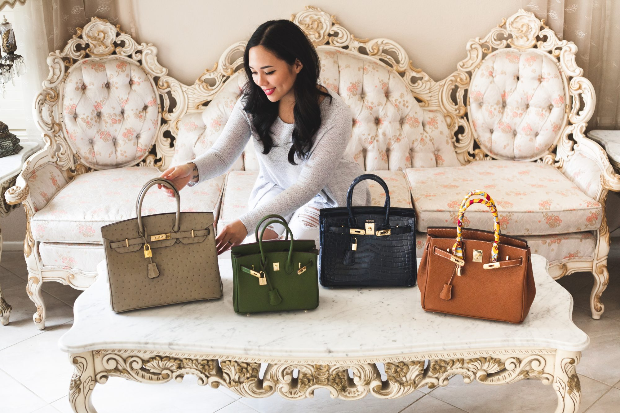 Fan of the expensive Hermés Birkin? Here are 4 gorgeous and high-quality designer dupes from Ainifeel, from Togo leather, to crocodile, ostrich and more. These quality handbags are between only $100 - $200! - www.theballeronabudget.com