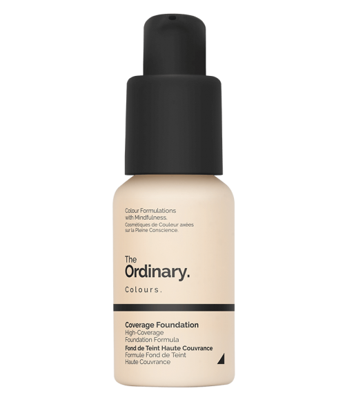 The Ordinary's $7 Coverage Foundation offers great coverage with just one layer but still has buildable coverage for a flawless finish. - www.theballeronabudget.com