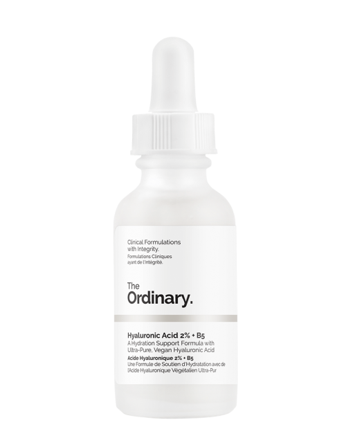 The Ordinary's Hyaluronic Acid 2% + B5 uses 3 different kinds of hyaluronic acid with different molecular weights, which helps for people like me who have issues with absorbing HA. This gives HA significantly better odds at penetrating the barrier and absorbing, rather than attracting hydration at the surface level. - www.theballeronabudget.com