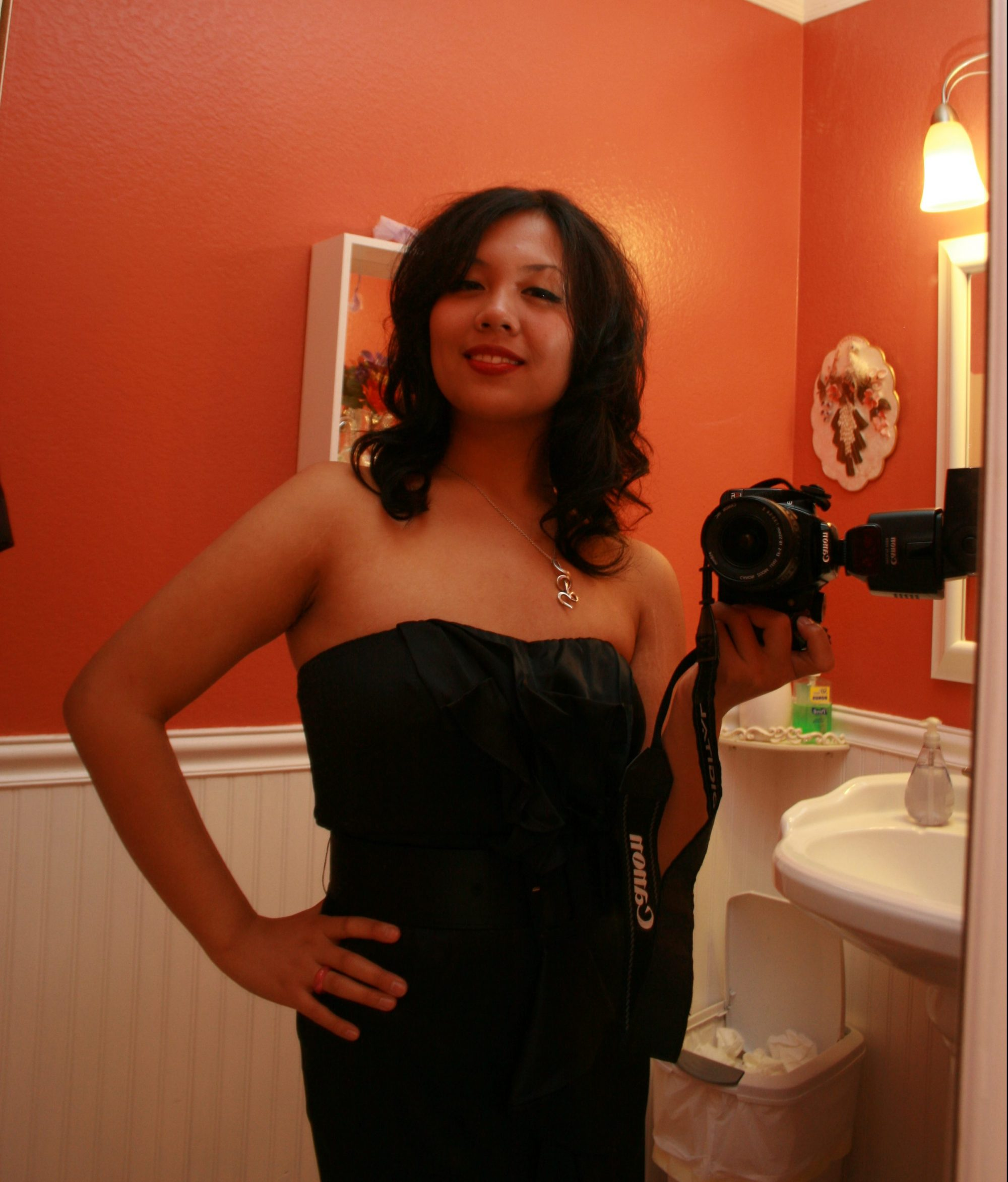 Age 16. For a New Year's party, I refused to eat the entire evening so I could fit in this dress without guilt.