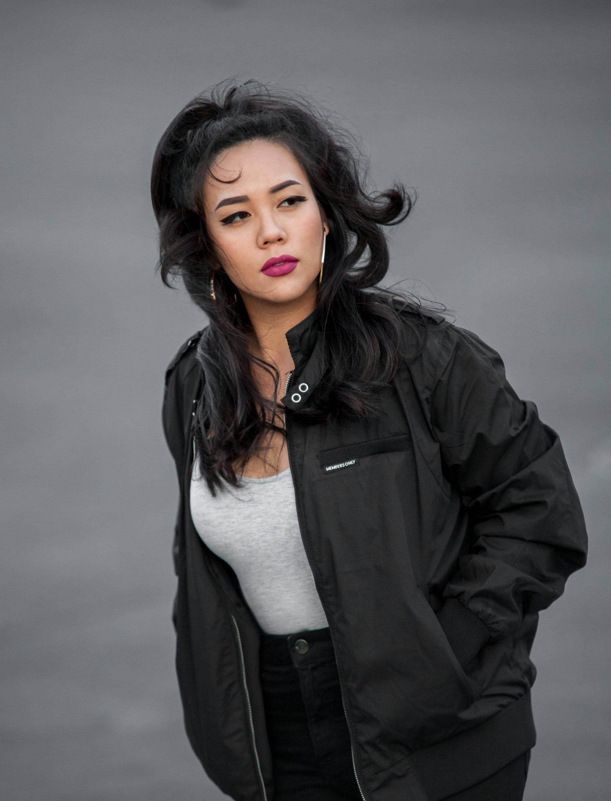 """Bomber jackets are the epitome of masculine athleticism. Perfect for casual outfits, a bomber jacket looks great when paired with a T-shirt or tank top and figure-flattering distressed jeans. Get it oversized for an """"I-stole-this-from-a-man"""" look. - www.theballeronabudget.com"""
