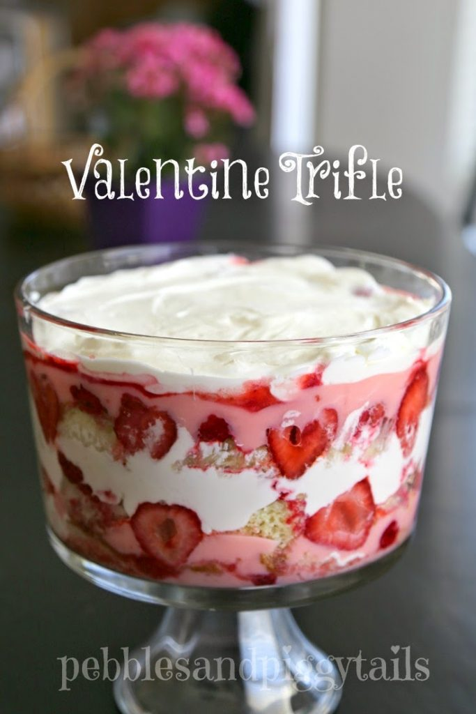 If you want a dessert that's (somewhat) on the healthier side of things, consider making this refreshing and easy Valentine's Day fruit trifle. Click here for the recipe. - www.theballeronabudget.com