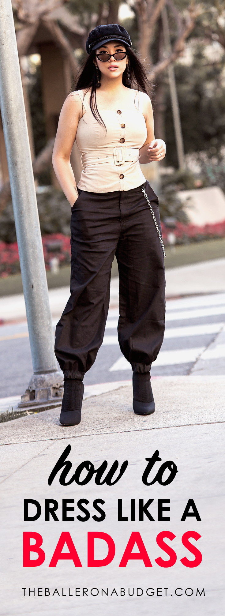 """Tired of dressing sexy or girly? Go against the grain and integrate a tomboy feel for an edgier, """"don't-mess-with-me"""" look. Here are my 7 tips on dressing like a badass. - www.theballeronabudget.com"""