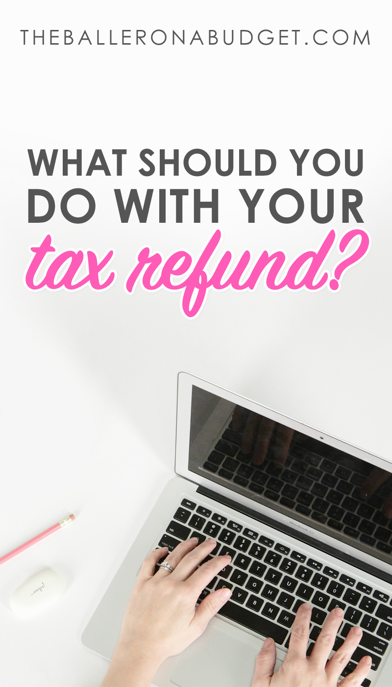 If you are receiving a tax refund from the IRS this year, what will you do with that money? Before you spend it all on a brand-new TV, consider spending it on smart choices like investments or paying off debt. Here are some great ideas. - www.theballeronabudget.com