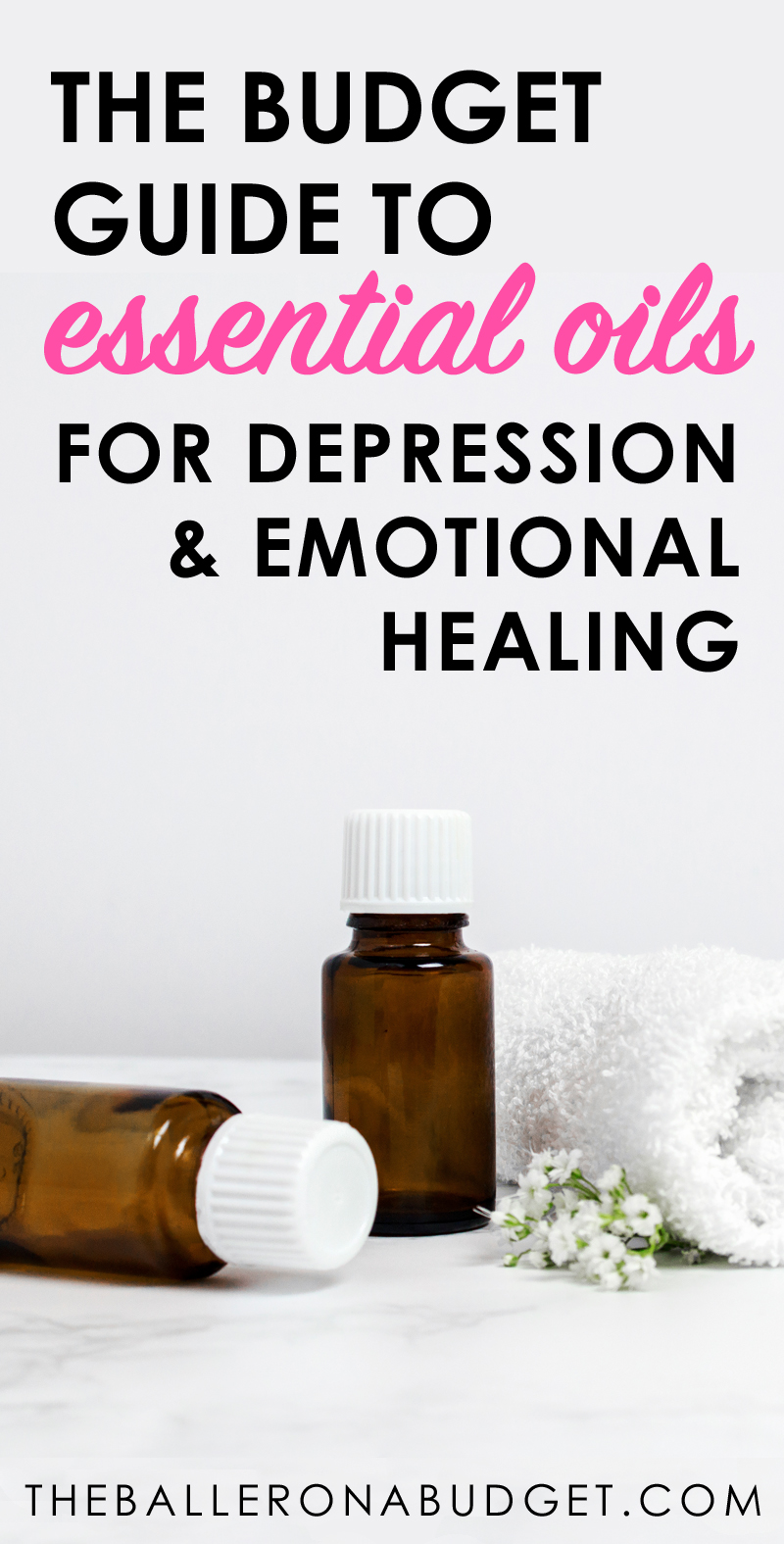 Essential oils can be a natural, effective and safe alternative to pharmaceutical antidepressants. This is the ultimate budget-friendly guide to therapeutic-grade essential oils to treat depression and encourage emotional healing. - www.theballeronabudget.com