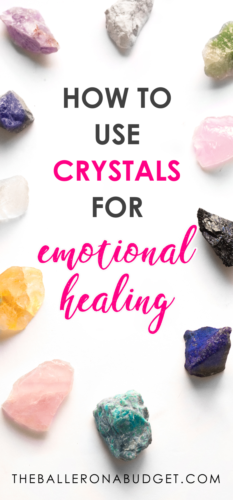 Did you know that having crystals around can help for emotional, mental and physical healing? Crystal healing is said to draw out negative energy. If you're new to crystal healing, check out this full beginner's guide along with the best store to buy crystals from online. - www.theballeronabudget.com