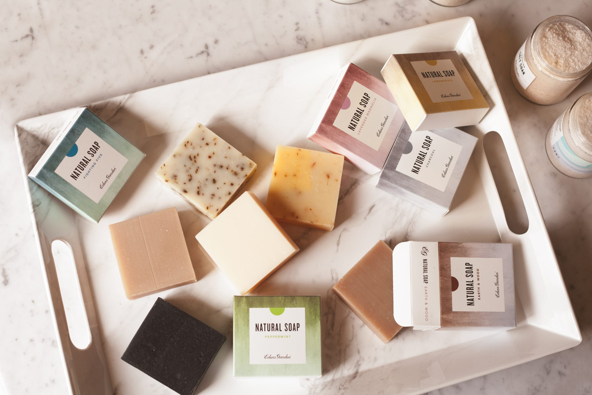 Unlike most natural bar soaps, Edens Garden bar soaps aren't stripping at all. They're extremely hydrating and thanks to the 100% pure essential oils, the fragrance lasts forever! - www.theballeronabudget.com