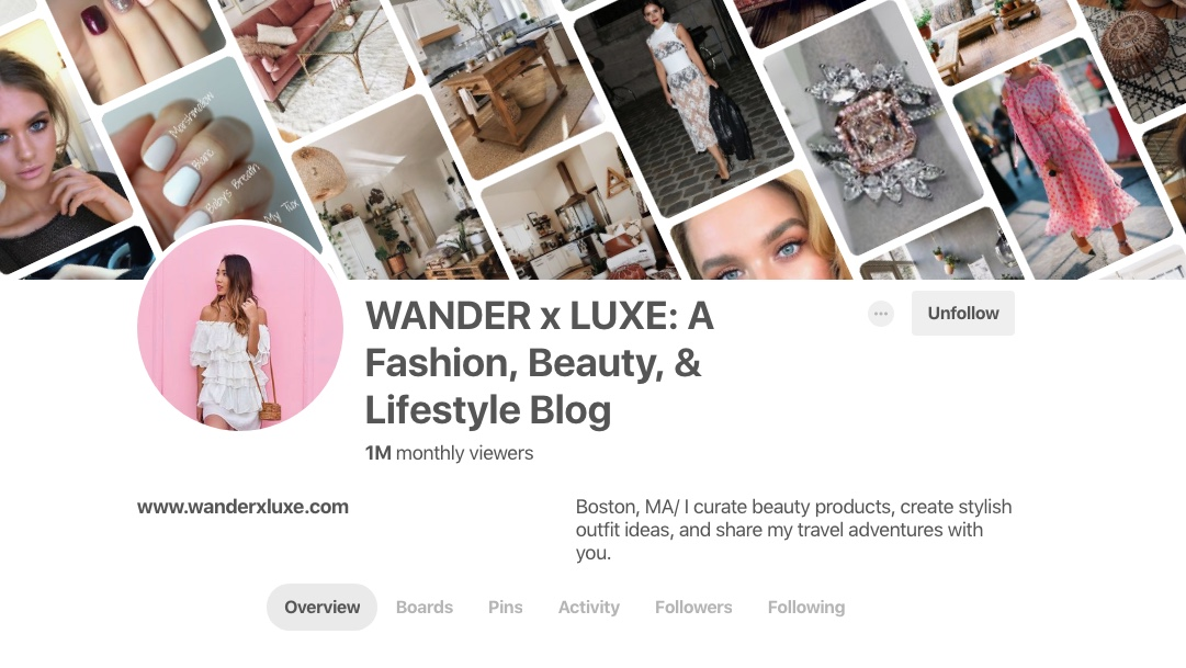 One of my students has actually incorporated the strategies from The Blogger Bible to her fashion blog and effortlessly hit 1 million monthly Pinterest viewers as well! FYI, just like me, she only spends one active day a month on Pinterest to achieve this.