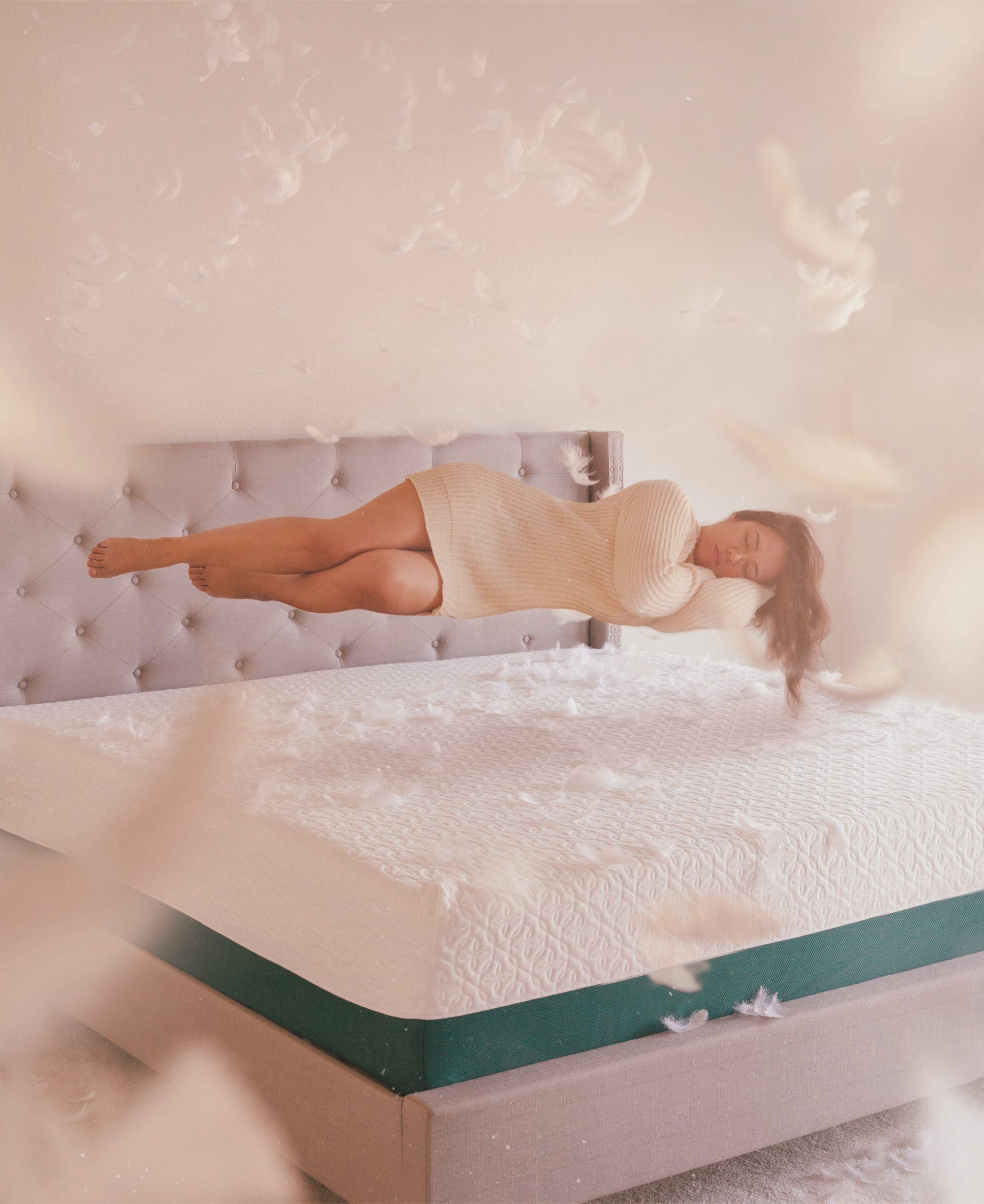Get a mattress that makes you feel like you're on Cloud 9. My new Zinus mattress is so comfortable, I feel like I'm sleeping on air. - www.theballeronabudget.com