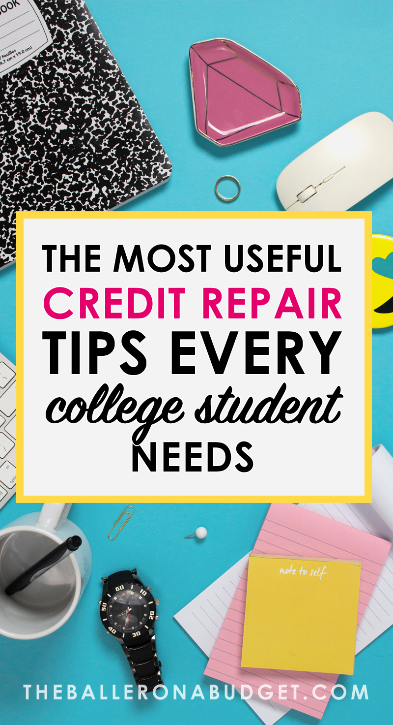 Did you know that your student loans have the potential to ruin your credit score before you get to establish your credit history? A poor credit score can prevent you from making large purchases such as homes or cars. So before you try to get your dream car, here are a few ways you can build and repair your credit. #ad - www.theballeronabudget.com