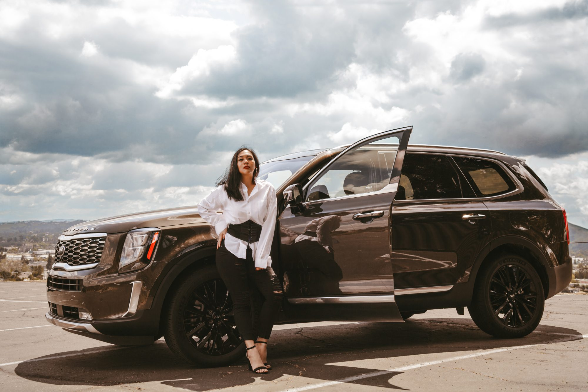 The 2020 Kia Telluride boasts style, subtlety, class, and luxury with an affordable price tag for many, starting at just $31,690. It's advanced, elegant, full of brawn, and offers as much luxury (or possibly even more) than competitors in its class like the Toyota Highlander, Honda Pilot, and even luxury SUVs like the Acura MDX and the Infinity QX60. - www.theballeronabudget.com
