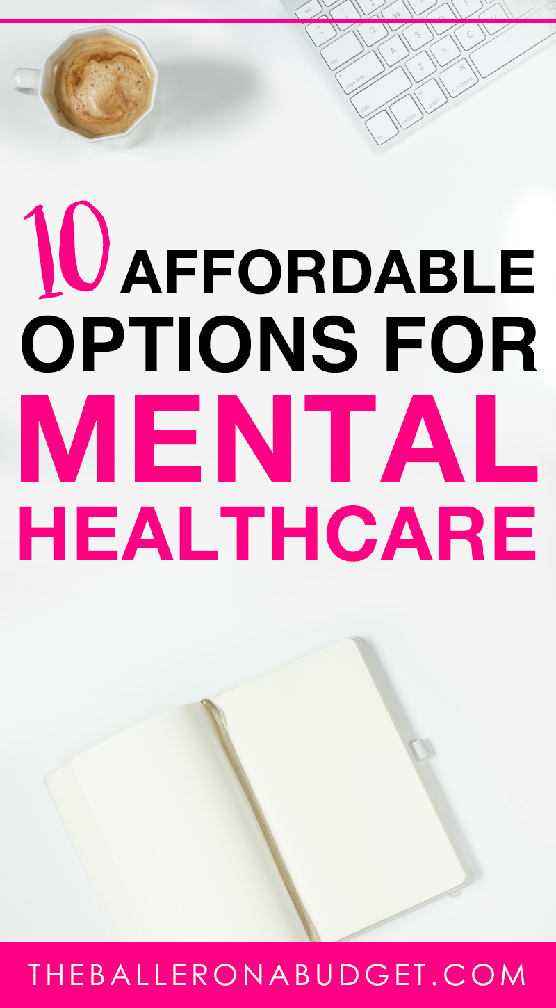Pinterest graphic for affordable mental healthcare options