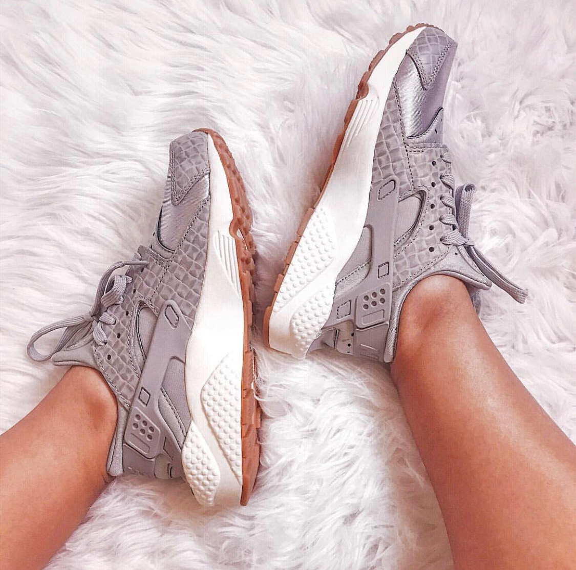 Grey Nike Huarache sneaker on sale