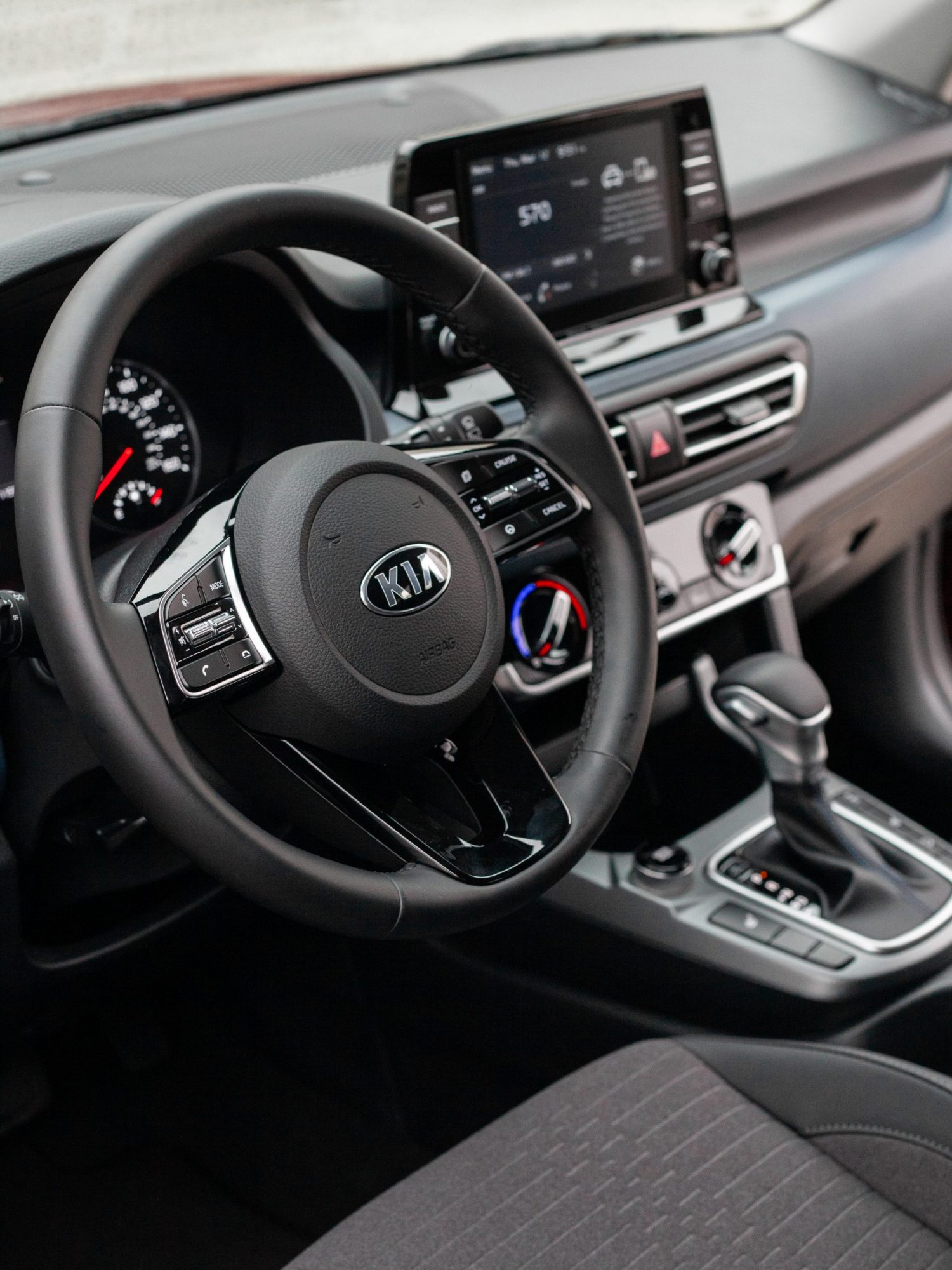 Interior of 2021 Kia Seltos